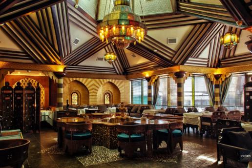 Интерьерная фотосъемка ресторана Касбар