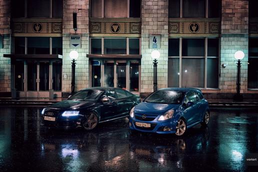 Audi RS6 и Opel Corsa OPC в СК Олимпийский